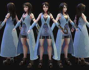 3D model Rinoa PBR Textured character