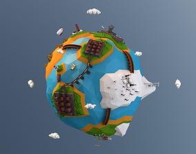Cartoon Earth 3D