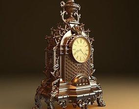 Gold Watch Baroque 3D model