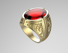 Gentleman Ring with engraving side design 3D print model