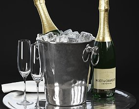 beverage 3D model Champagne in Bucket