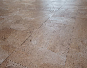 3D model Beige Stone flooring