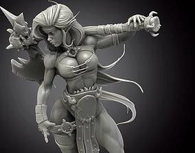 Elf Axe Warrior 3D print model