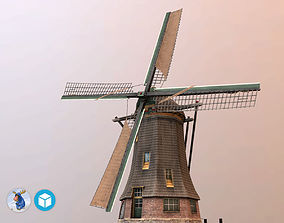 3D asset rigged Holland WindMill