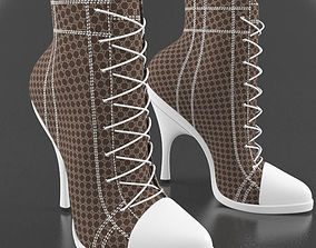 Woman Shoes Boots Gucci 3D model