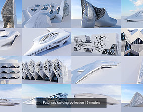 3D Futuristic building collection