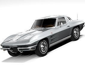 3D model Chevrolet Corvette C2 1963 LowPoly