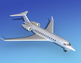 3D model Global Express XRS Bare Metal