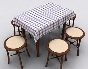 Table and Stool 3D