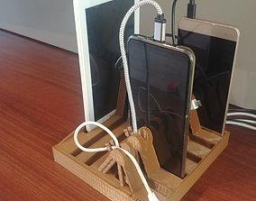 3D print model Multi docking station for cell phones 2