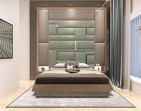 bedroom interior furnishing 3D model