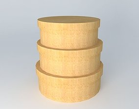 Shaker wood boxes 3D model