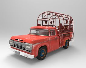 3D rigged Old Truck