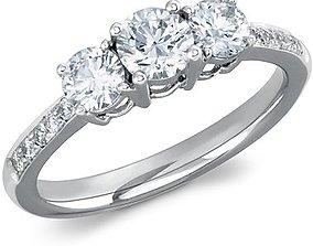 3D print model Vintage Collection Diamond Ring