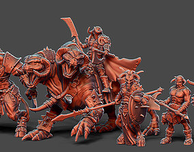 Chaos Horde - 5 miniatures 35 mm scale 3D print model