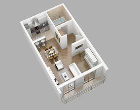 3D model Flat home