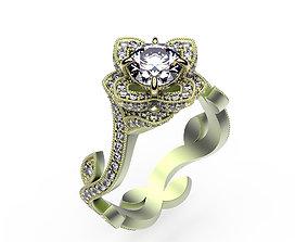 3D printable model Ring Lotus Engagement