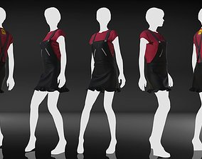 Marvelous Designer Free Garment - Casual Star 3D model