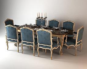 3D Salda Dining table Louis XIV