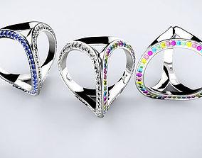Three rings 3D print model