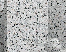 Materials seamless - coating stone terrazzo 3D