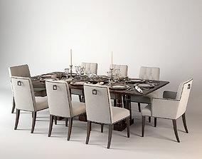 Baker Modern Dining Set 3D model