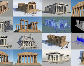 3D model Parthenon set of 3