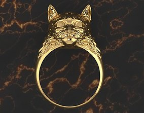 High Detailed Cat Ring 3D Print Model
