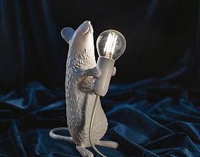 led 3D print model Mouse lamp
