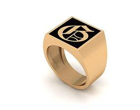 3D printable model Old English Letter Ring G