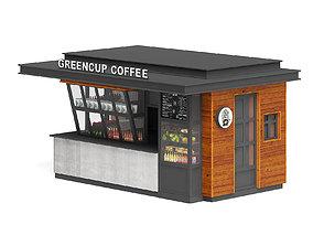 shop Coffee Kiosk 3D Model