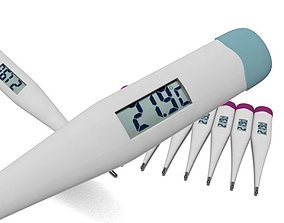 3D model realtime Digital Body Thermometer