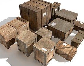 3D model Transport crates Pack 2 PBR