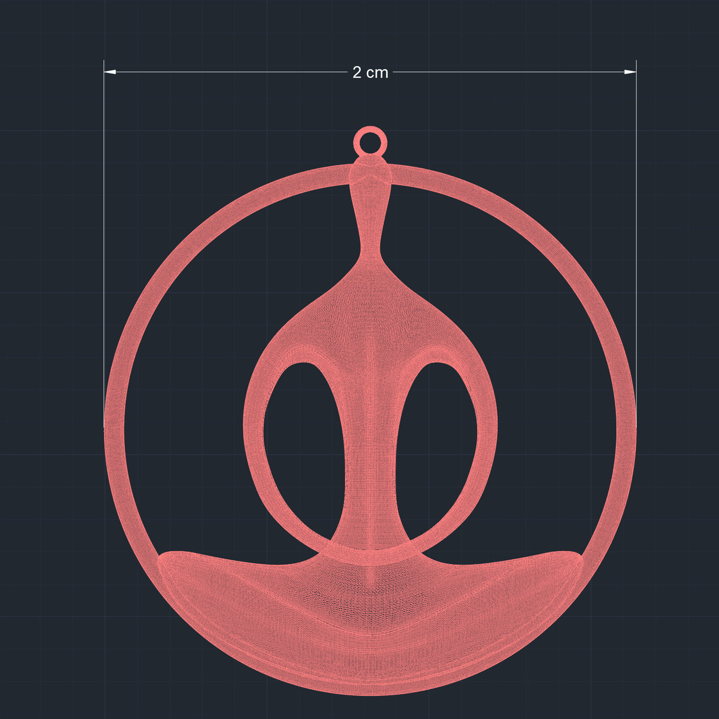Yoga Pendant Jewelry Finger 3D Print Model