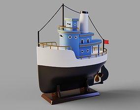 3D asset Toy ship