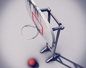 Basketball Post 3D asset