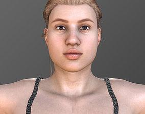 3D asset animated ELINA
