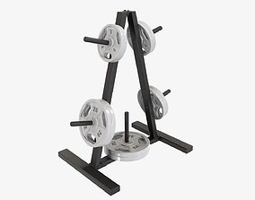 3D model Weight plate storage rack