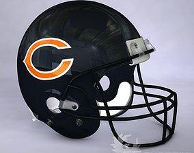 Chicago Bears official game helmet 3D model