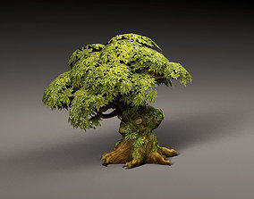 3D model Old Cartoon Tree