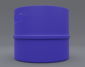 3D model trash can 7