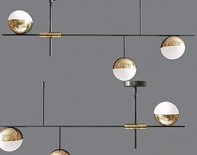 Mid Century Modern Ceiling Light 3D model