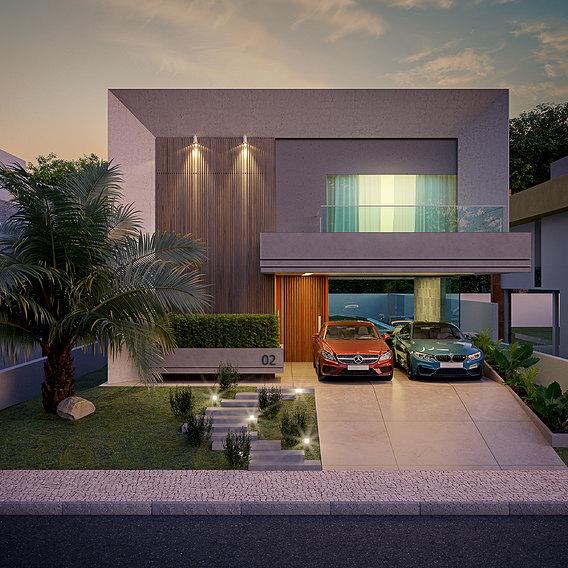 Modern House Golden Hour
