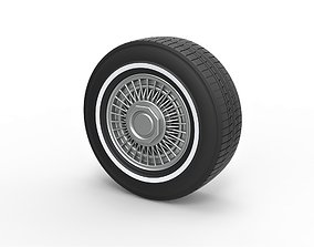 3D print model Diecast wire wheel 3 Scale 1 to