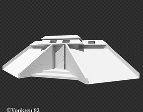 3D model low-poly Jurassic Park Security Bunker