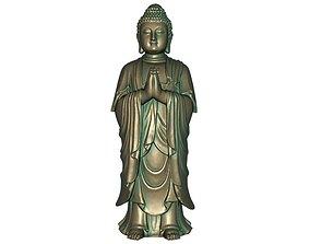 Buddha 3D printable model 3D asset