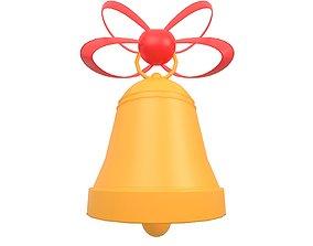 3D asset Christmas Bell v1 001