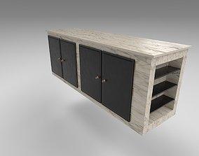 3D asset Marble Counter Island