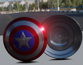 Captain America Shield 3D printable model