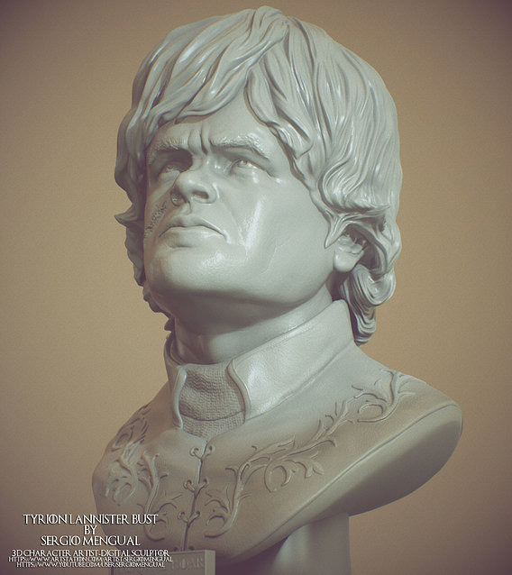 Game of Thrones Tyrion Lannister 3D Printable Bust
